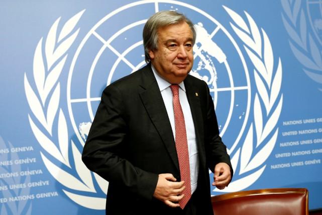 Âgé de 67 ans, Antonio Guterresa été le... (PHOTO REUTERS)