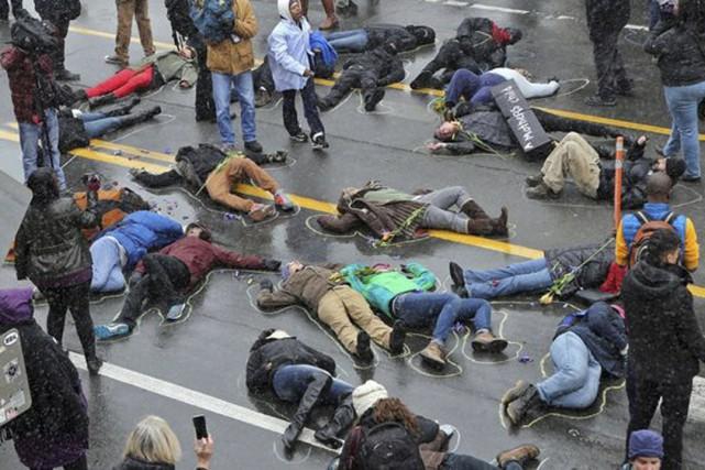 Le die in est une manifestation pacifique où... (photo prise sur Internet)