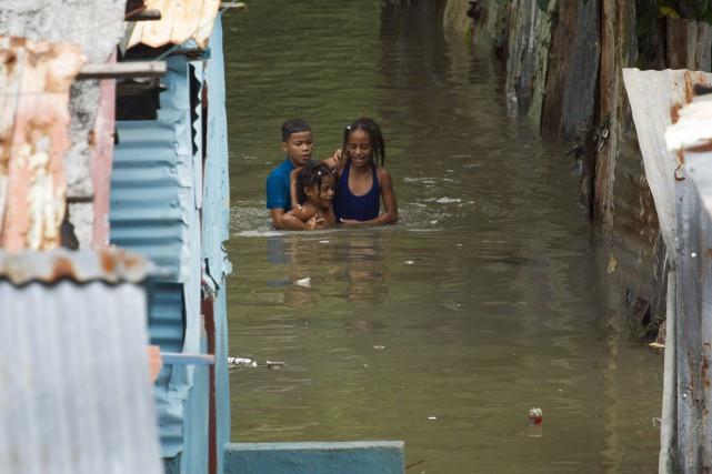 L'ouragan Matthew a notamment frappé sévèrement l'île d'Hispaniola,... (AFP, Erika Santelices)