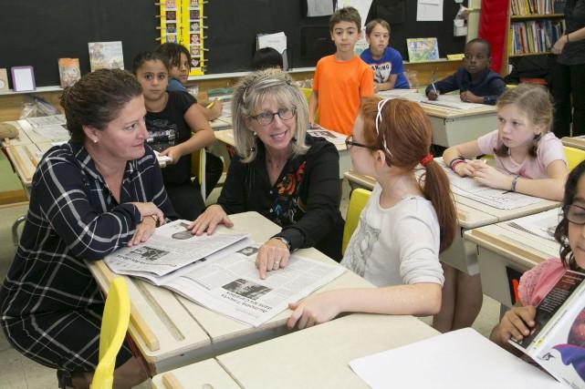 L'enseignante de quatrième année Anne-Marie Payeur, de l'école... (Spectre Média, René Marquis)