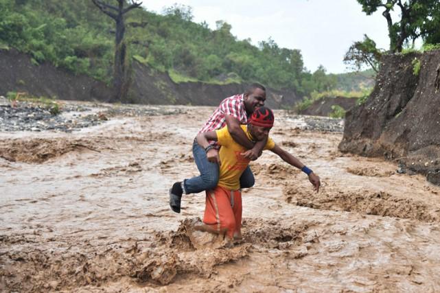 L'ouraganMatthew, le plus puissant dans les Caraïbes depuis... (PHOTO AFP)