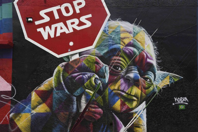 Murale réalisée par l'artiste Kobra au Wynwood Walls... (AFP, Rhona Wise)