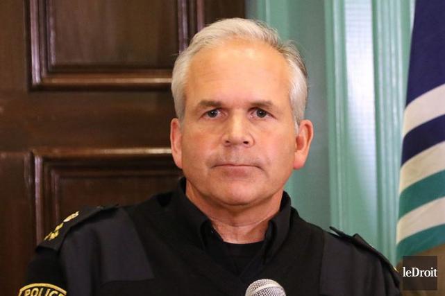 Le chef de la police d'Ottawa, Charles Bordeleau... (Patrick Woodbury, Archives LeDroit)