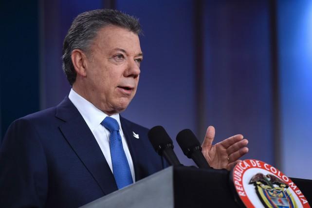 «La paix en Colombie est proche et nous... (PHOTO AFP/GOUVERNEMENT COLOMBIEN)