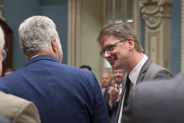 La dernière période de questions de Sylvain Gaudreault... (Photo PC, Jacques Boissinot)