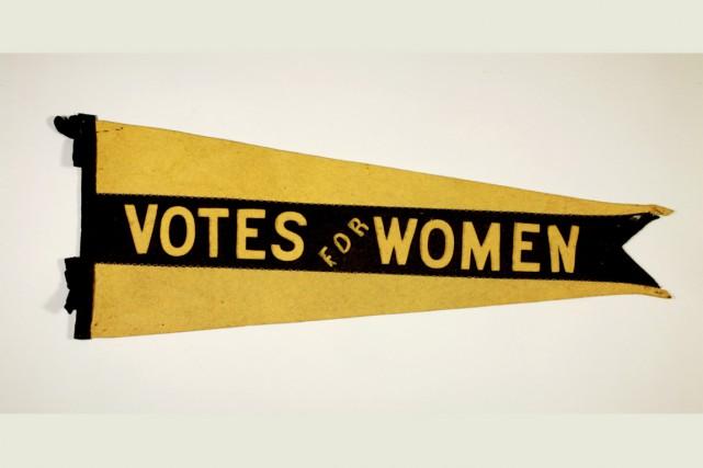 Le fanion Votes for Women, (feutre, 1913-1915). Un... (Courtoisie)