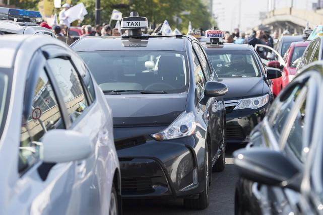 De nombreux chauffeurs de taxi ont fait la... (La Presse Canadienne, Graham Hugues)