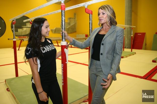 Nadia Comaneci était de retour à Montréal, mercredi,... (Photo Martin Chamberland, La Presse)