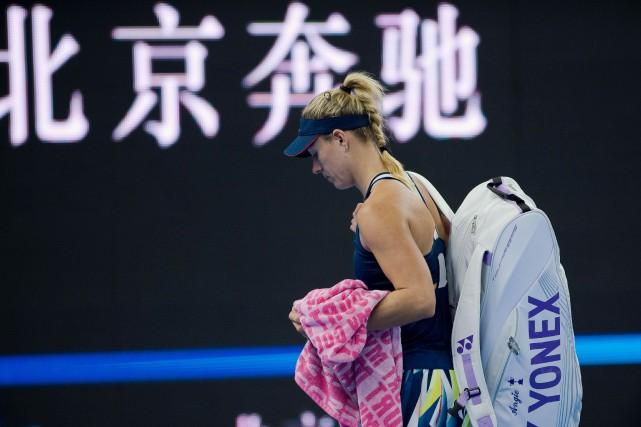 La numéro 1 mondiale Angelique Kerber quitte le... (Photo Nicolas Asfouri, AFP)