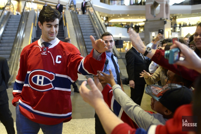 Le capitaine Max Pacioretty lors de la présentation... (Photo Bernard Brault, La Presse)