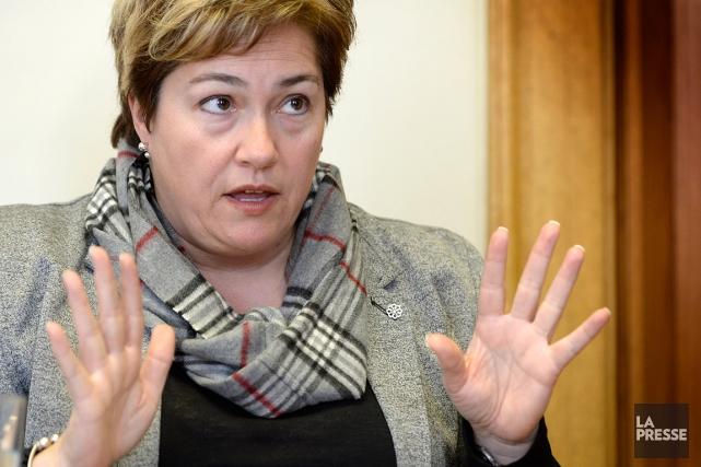 Anie Samson estvice-présidente du comité exécutif.... (PHOTO BERNARD BRAULT, archives LA PRESSE)