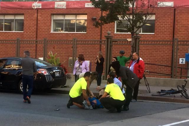 Un cycliste a été happé par un véhicule devant le palais de justice de... (Louis-Denis Ebacher, LeDroit)