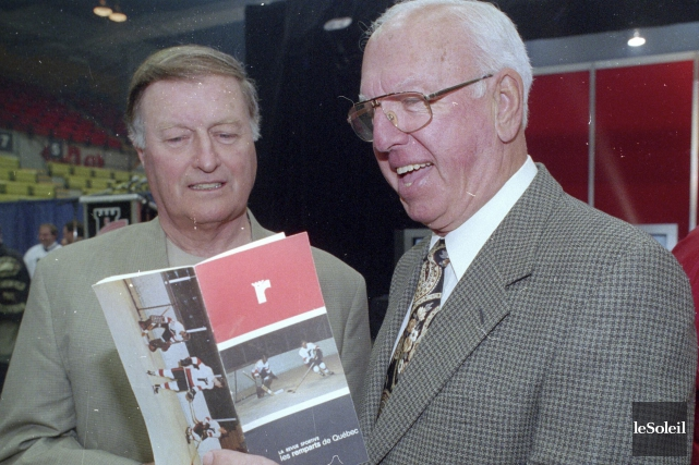 Le 26 mai 1997, Jean-Marc Bruneau (à droite)... (Photothèque Le Soleil, Jean-Marie Villeneuve)