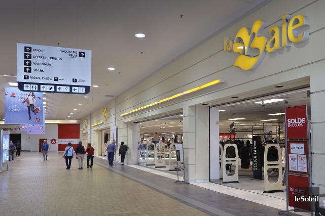 Le magasin La Baie d'Hudson de Fleur de... (Le Soleil, Patrice Laroche)