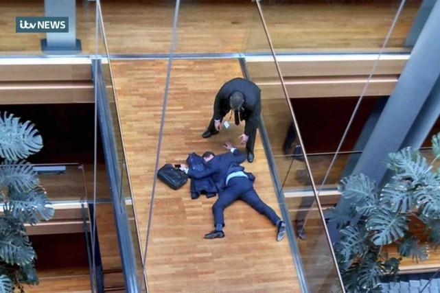 Une télévision britannique a montré une image du... (AFP)