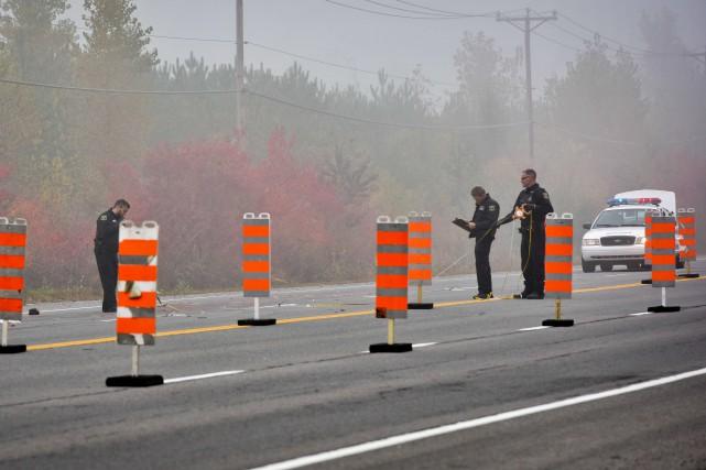 Les policiers de Trois-Rivières se sont rapidement mis... (François Gervais, Le Nouvelliste)