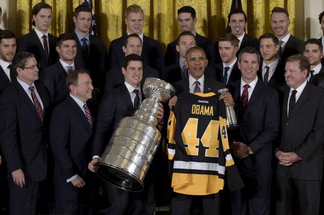 Le président Barack Obama a honoré les Penguins... (Susan Walsh, AP)