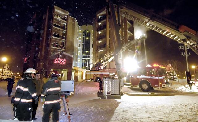 L'incendie aux Résidences du Carrefour du 22 décembre... (Photo fournie)