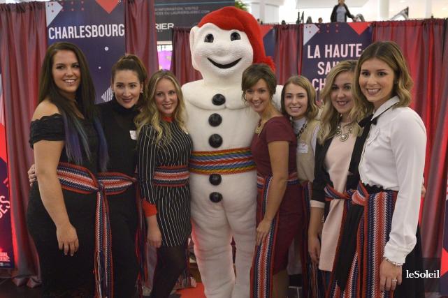 Sabrina Lachance, Claudine Julien, Steffy Theetge, Justine Leblanc,... (Le Soleil, Yan Doublet)