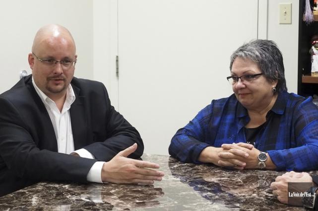 Derek Tremblay et Joanne Ouellette, respectivement de la... (Alain Dion, La Voix de l'Est)