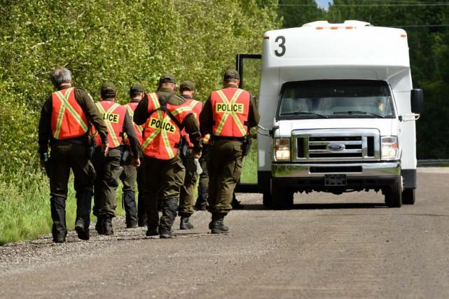 Les policiers de la Sûreté du Québec ont... (Photo: Francois Gervais)