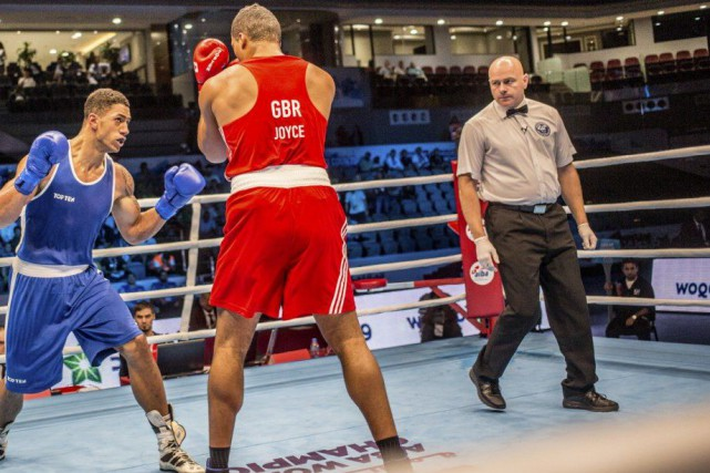 Tony Germain, qu'on voit ici aux Championnats du... (Photo fournie par l'Association internationale de boxe amateur)