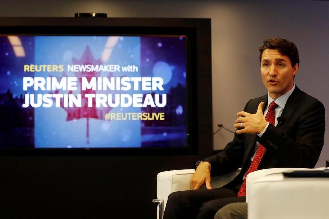 Justin Trudeau a fait ces commentaires lors d'une... (REUTERS)