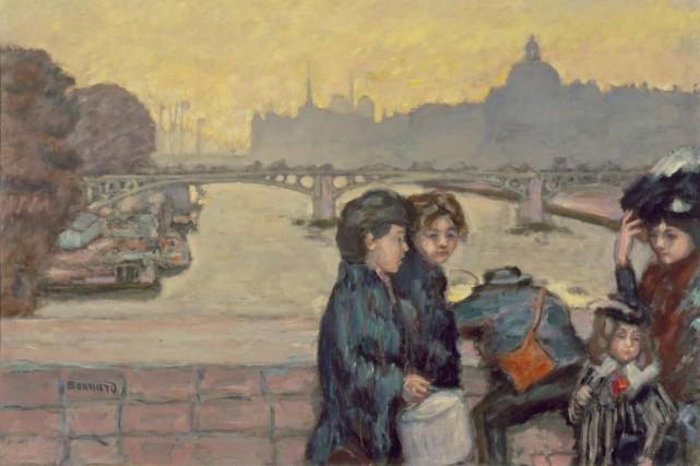 Pont du Carrousel, 1903, Pierre Bonnard, huile sur... (Photo fournie par le MNBAQ)