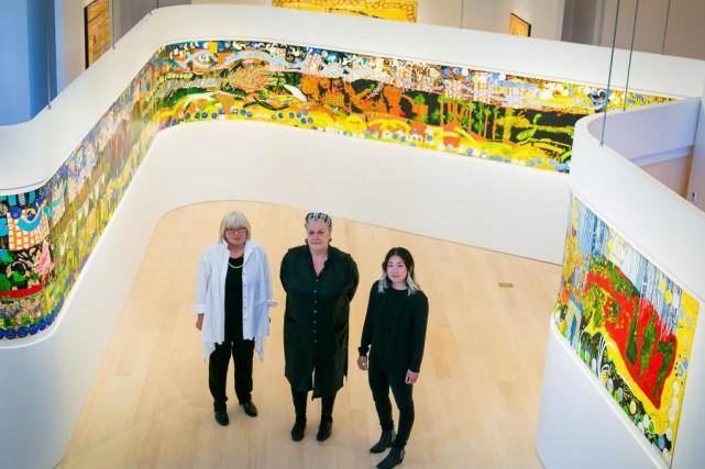 Anna Torma, Claire Labonté et Marigold Santos présentent... (Photo Martin Tremblay, La Presse)