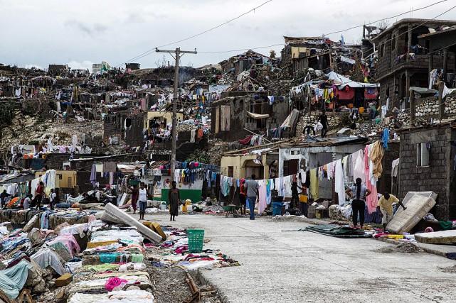 L'ouragan Matthew a causé de lourds dégâts lors... (PHOTO AFP, FOURNIE PAR LA MISSION DES NATIONS UNIES POUR LA STABILISATION EN HAÏTI)