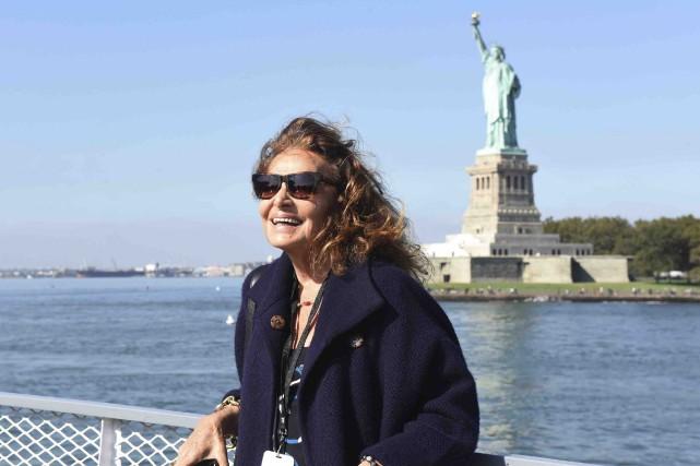 La créatrice de mode Diane von Furstenberg est... (AP, fournie par The Statue of Liberty-Ellis Island Foundation)