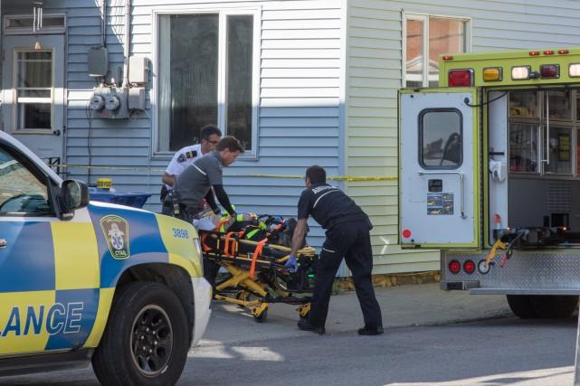 À l'arrivée des policiers, la victime était inconsciente,... (Collaboration spéciale Steve Jolicoeur)