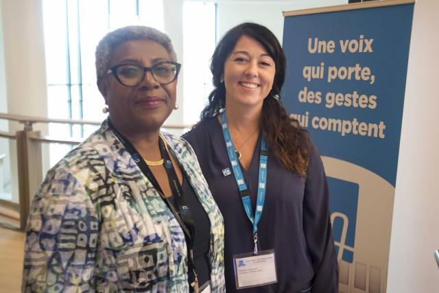 Régine Laurent, présidente de la FIQ, et Nathalie... (Sylvain Mayer)