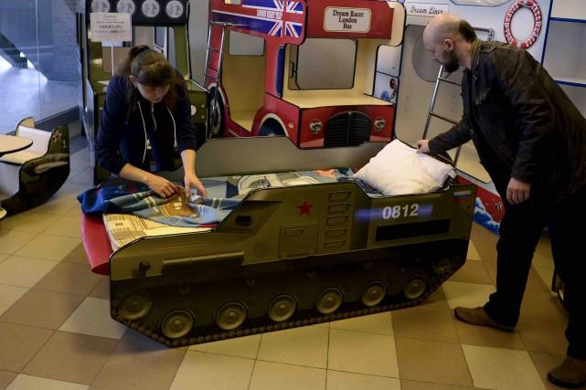 La tendance: le lit en forme de lance-missiles (AFP, Olga MALTSEVA)