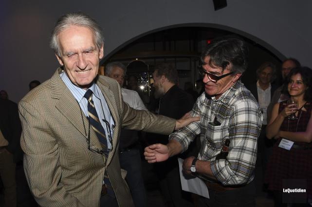 Le professeur Gérard Bouchard a reçu un hommage... (Photo Le Quotidien, Rocket Lavoie)