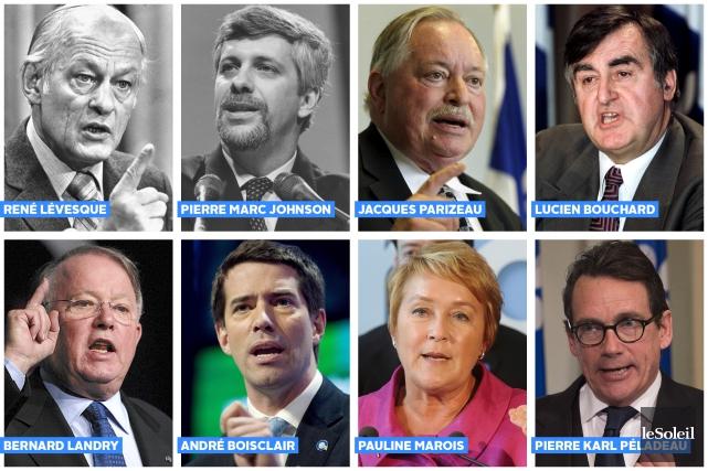 Jean-François Lisée est le neuvième à prendre les rênes du Parti québécois.... (Infographie Le Soleil)