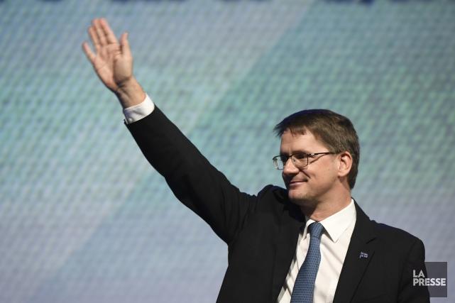 Sylvain Gaudreault a prononcé un discours devant l'assemblée.... (Photo Bernard Brault, La Presse)