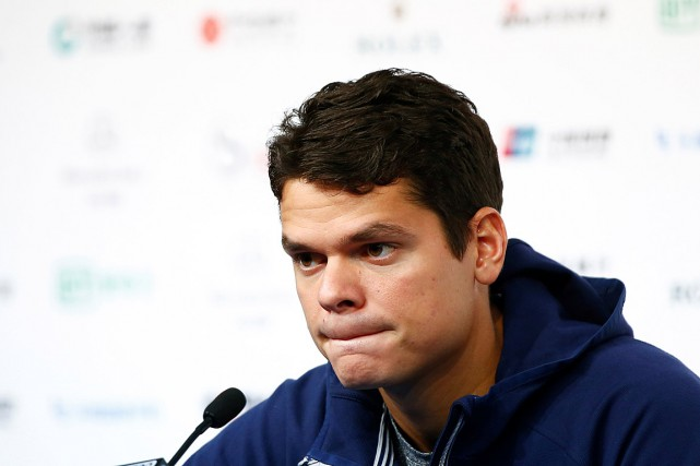 Milos Raonic a annoncé son retrait du tournoi... (PHOTO THOMAS PETER, REUTERS)