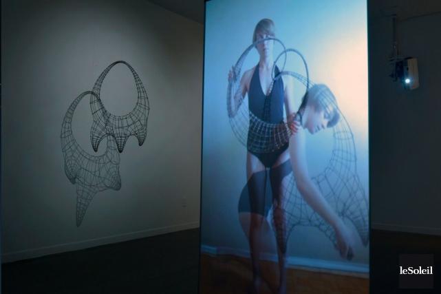 L'installation conjointe de Jacques Samson et Marianne Burlew... (Le Soleil, Jean-Marie Villeneuve)