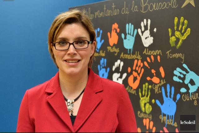 La directrice générale de La Boussole, Hélène Lévesque... (Photothèque Le Soleil, Caroline Grégoire)