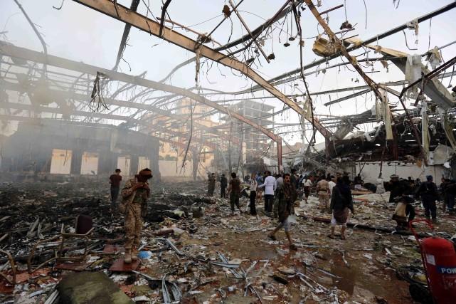 Plus de 140 personnes seraient mortes et 525... (Photo Osamah Abdulrhman, AP)