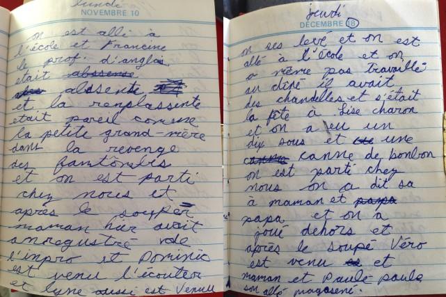 Quand je relis mon journal intime, ça éclaircit mes souvenirs. C'est incroyable... (Photo Le Progrès-Dimanche, Mélissa Viau)