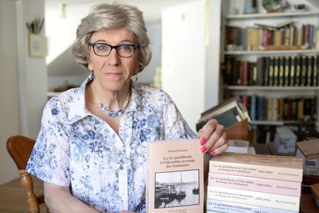 Russel-Aurore Bouchard lancera mercredi le cinquième tome du... (Photo Le Progrès-Dimanche, Jeannot Lévesque)
