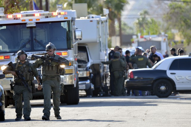 La fusillade est survenue lorsque deux agents sont... (AP, Rodrigo Pena)