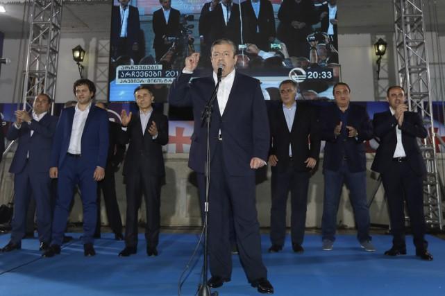 Le premier ministre géorgien Giorgi Kvirikashvili, dont le... (Photo Sergei Grits, AP)