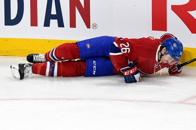 Jeff Petry s'est blessé jeudi lors du match... (PHOTO BERNARD BRAULT, LA PRESSE)