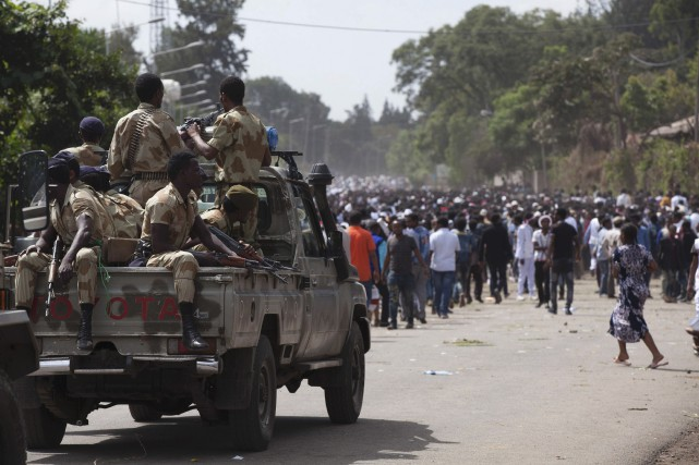 Selon des habitants de la capitale Addis Abeba... (AFP, Zacharias Abubeker)