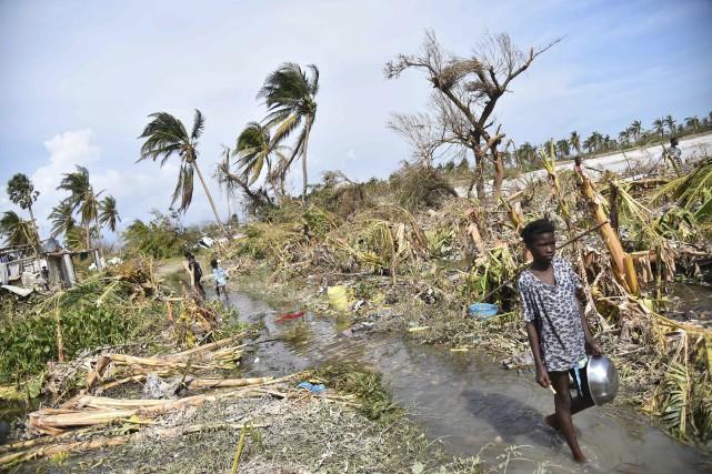 Aux Cayes, les familles ont des difficultés à... (AFP, Hector Retamal)