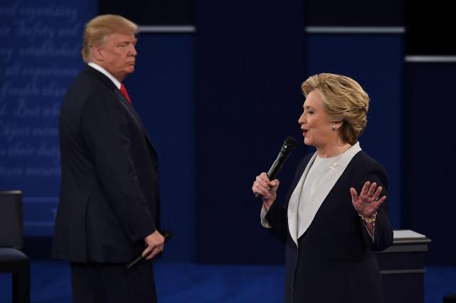 Hillary Clinton et Donald Trump se sont affrontés... (Robyn Beck, AFP)