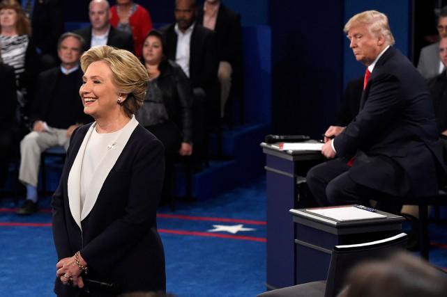 Les deux candidats à la présidentielle américaine lors... (SAUL LOEB, AFP)